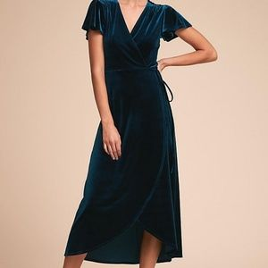NWT BHLDN velvet wrap dress sz xl
